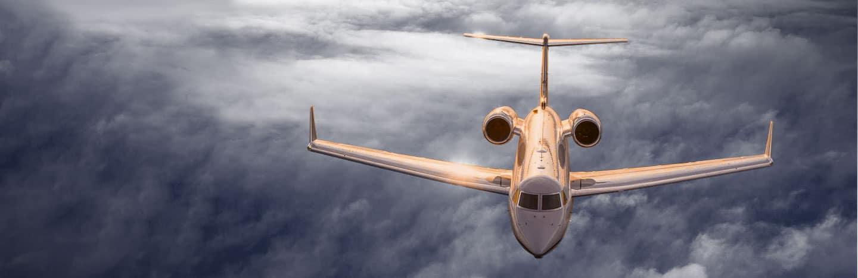 gulfstream in flight