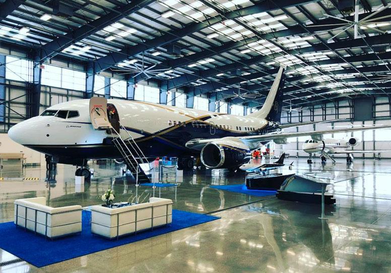 Stunning Boeing Business Jet Visits Avjet Global