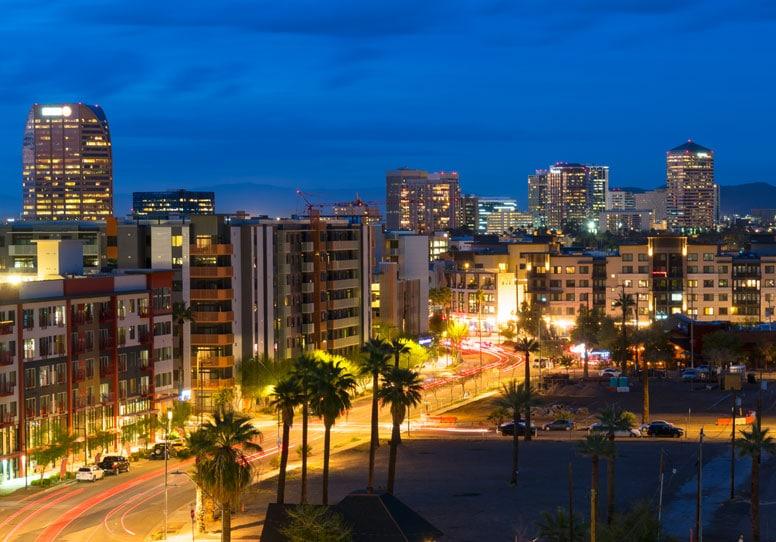 Scottsdale at night
