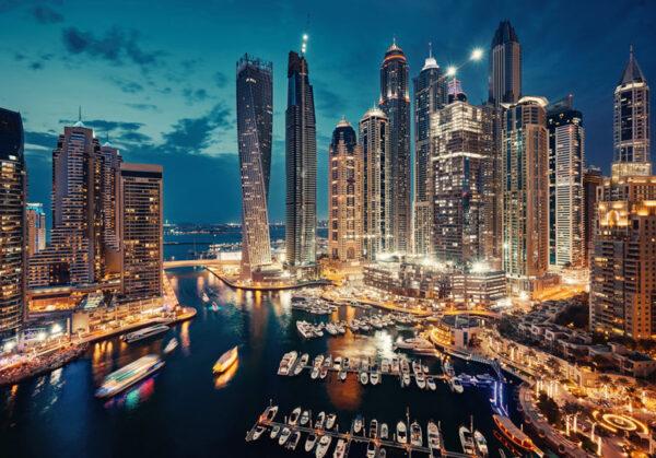 Dubai at sunsset